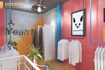Thiết kế hoàn thiện showroom thời trang Nam YEAH1