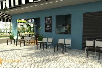 Thiết kế thi công hoàn thiên công trình quán caffe 1991