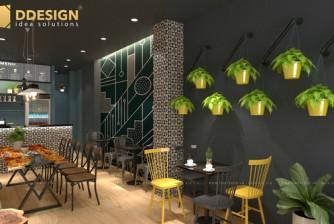 Thiết kế và hoàn thiện công trình quán caffe Na