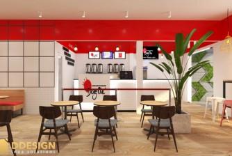 Thiết kế và hoàn thiện công trình quán Trà Sữa Dong Cha - Cai Lậy