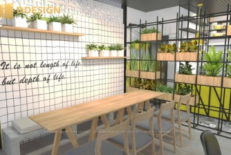 Thiết kế thi công hoàn thiện công trình quán cafe Gò Vấp