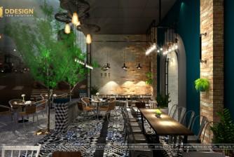 Mẫu thiết kế quán cà phê theo phong cách vintage
